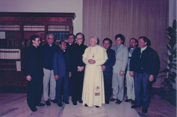 With Pope JPII