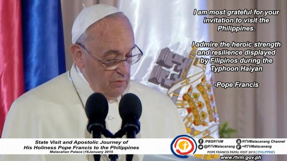 Second day of Pope Francis in the Philippines (1/3)