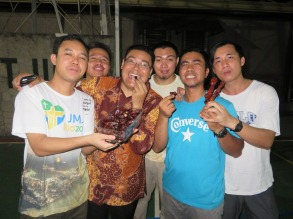 03 Welcoming with Fr. Santoso
