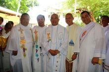 From the left: Fr. John Carl Cabaluna SCJ, Fr. Roel from the Passionist Fathers, Fr. Anthony Labiao, from the Diocese of Novaliches, Fr. Pjoe, SCJ and Deacon Sergio, SCJ